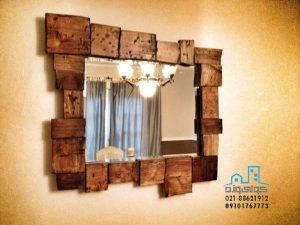 قاب آینه چوبی