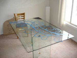 شیشه میز ناهار خوری