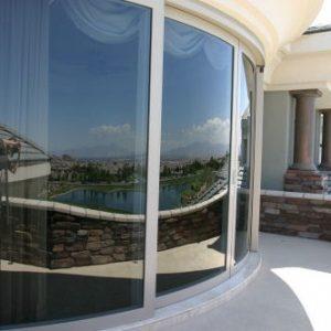 شیشه خم ساختمانی