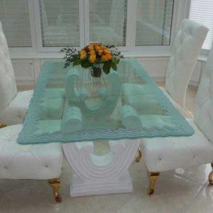 شیشه میز ناهارخوری شش نفره