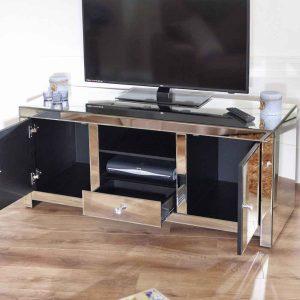 میز تلویزیون آینه ای