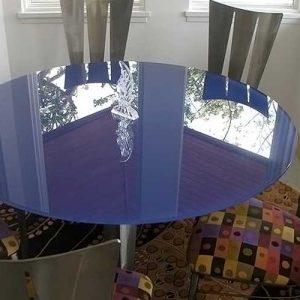 شیشه رنگی رومیزی