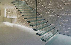 نرده شیشه ای راه پله