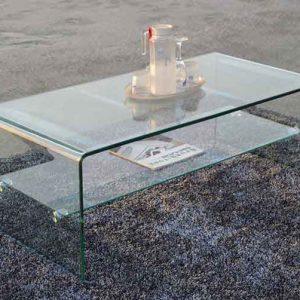میز شیشه ای ال سی دی