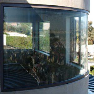 شیشه خم پنجره