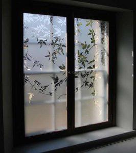 شیشه حکاکی-