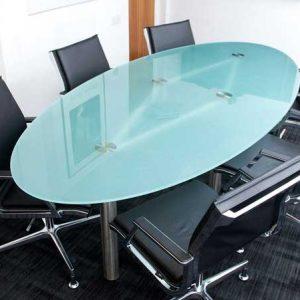 شیشه میز گرد