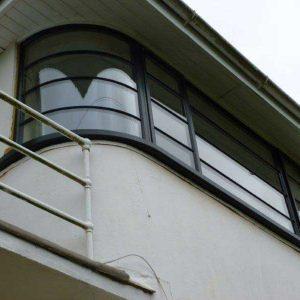 پنجره upvc خم