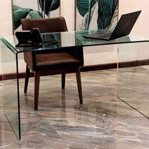 میز شیشه خم