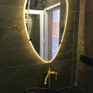 طرح آینه روشویی